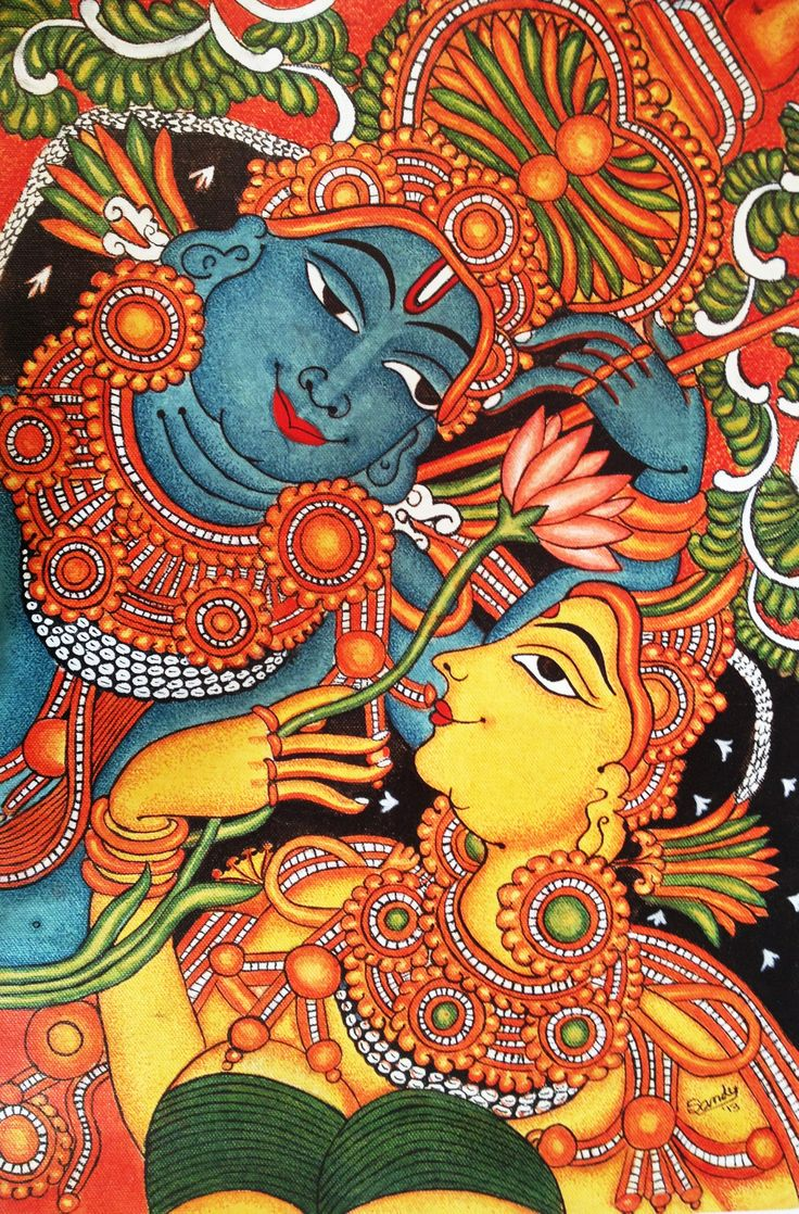 Easy krishna mural paintings the image for Easy mural painting