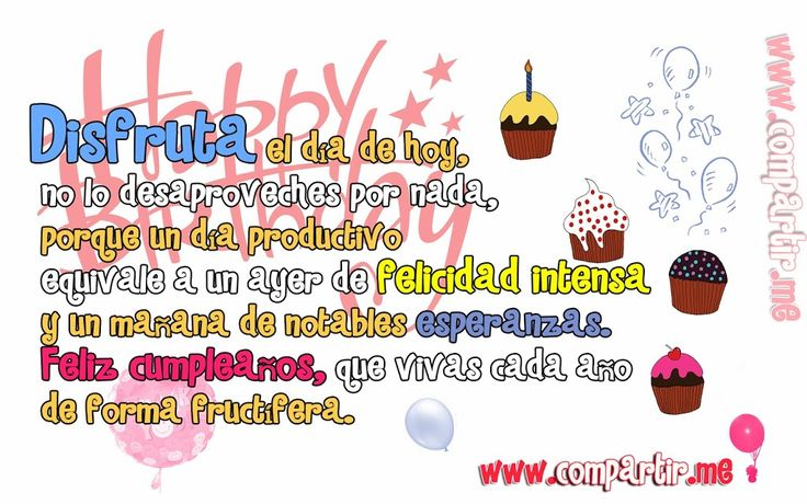 Happy Birthday Para Hombres ~ Best images about frases feliz cumplea�os hombre on pinterest amigos happy th birthday