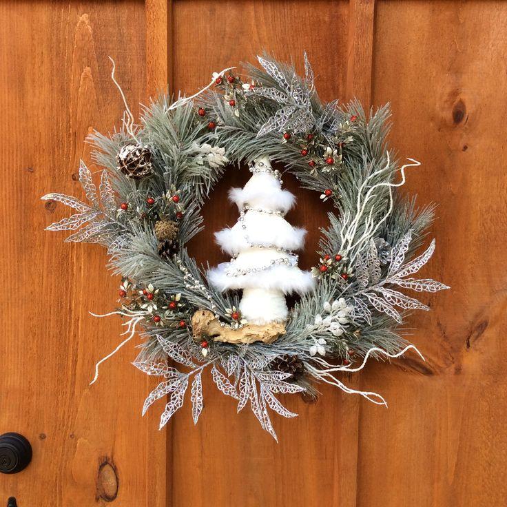 Christmas Wreath, Winter Wreath, Front Door Decor, Door Decor, Wall Decor, Christmas Tree, Scotch Pine Decor, Front Door, Made In Canada by DearloveDecorDesign on Etsy