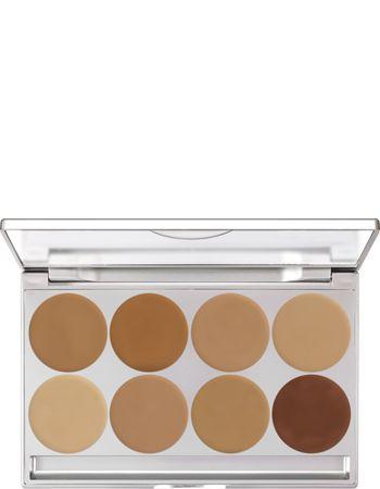HD Micro Foundation Cream Palette 8 Farben | Kryolan - Professional Make-up: Diese HD Foundation wirkt absolut natürlich und ist sehr haltbar - auch Stunden nach dem Auftrag ist nichts verrutscht oder hat sich in kleinen Fältchen abgelagert.