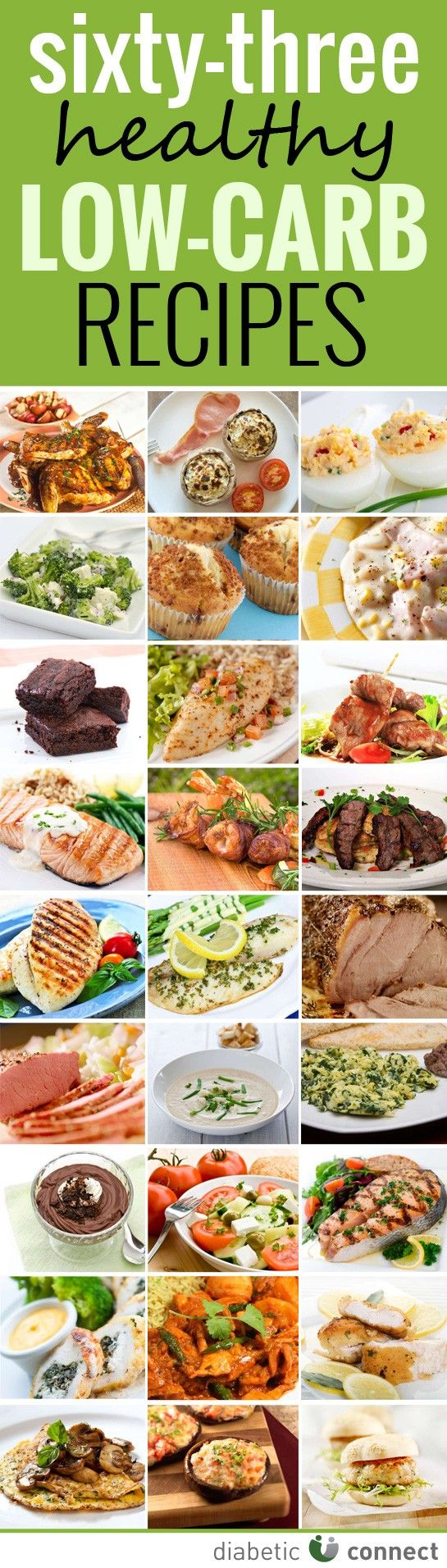 Low-Carb Recipes. 63 great recipes in one place!