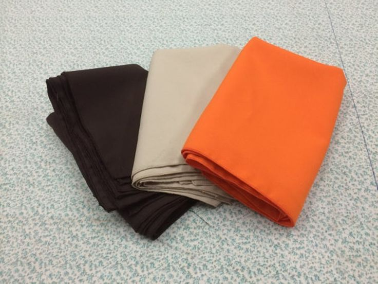 24 Pack Of Cloth Napkins Birthday Dinner Bridal or Baby Shower Thanksgiving Dinner 8 brown, 8 orange and 8 Beige Napkins. This listing is for a set of 24 napkins made from polyester fabric. use for your holiday or everyday décor. Just toss in the washer and dryer.