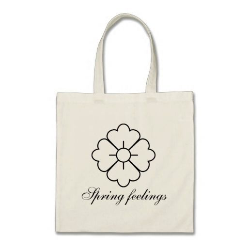 Flower shape design bags - black. Customizable, you can change/add the text, change the font (style), color, position etc.