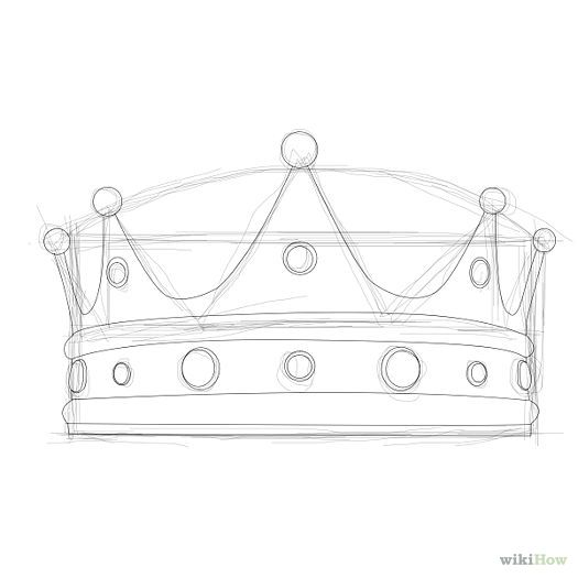 hand drawn crown can use for inkscape