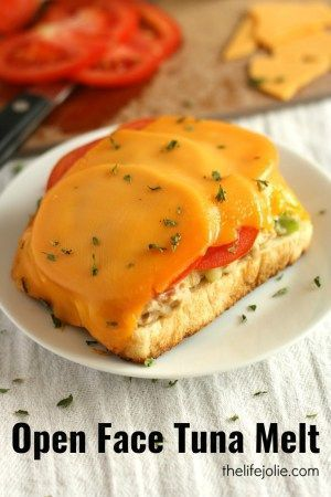 This Open Face Tuna Melt recipe is super quick and easy to make. It's a simple classic sandwich that makes the most delicious lunch!