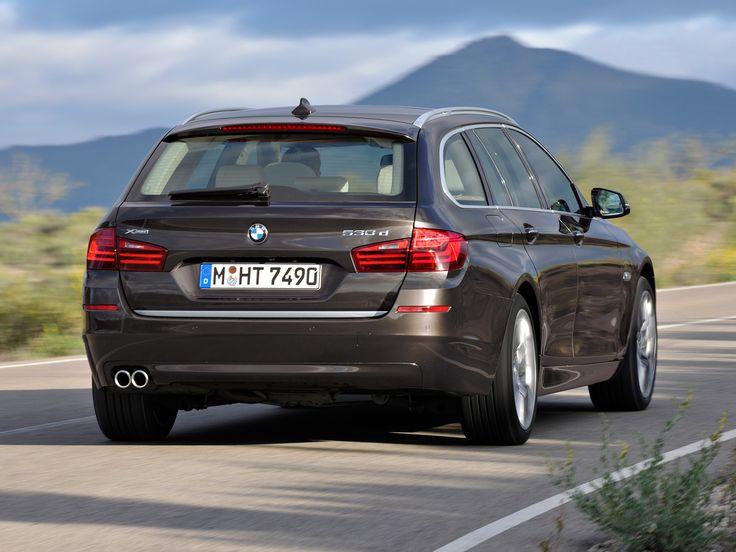 2013 BMW 5-Series Touring car, rear view