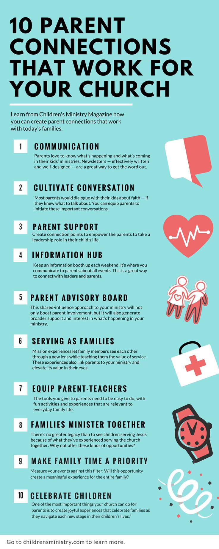 These are effective ways to connect with parents. Churches want parents to commit and get involved. These are powerful ways to do that in your Sunday school and church.