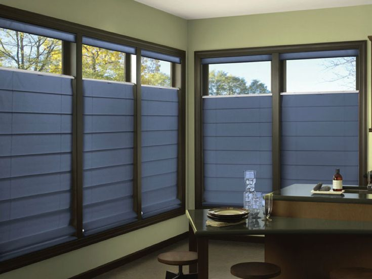 Roman Shades are great in reducing noise because of the density and thickness of their fabrics. The heaviness, whether light filtering or blackout, helps to provide the extra layer of protection, helping trap sound from the outside between the glass and the window covering itself. Blackout fabrics will be the best to reduce as much noise as possible.