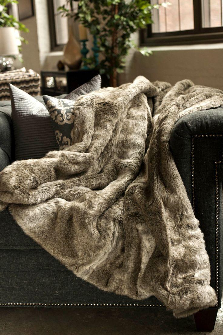 Koala Faux Fur Throw Blanket