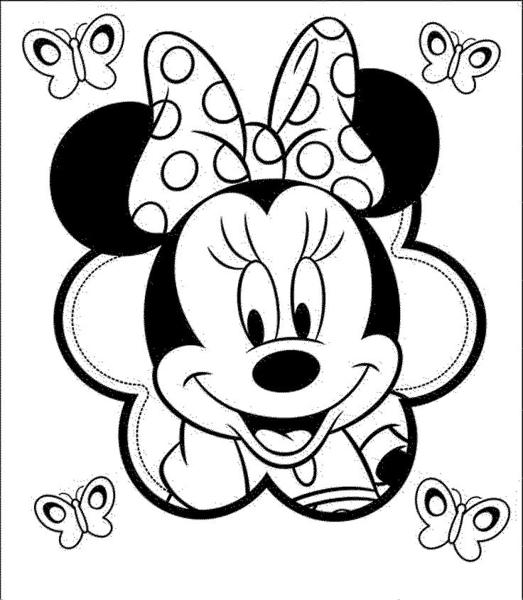 Minnie mouse coloring pages for kids pintar Pinterest