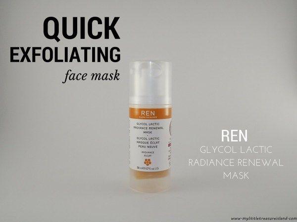 Ren Glycol Lactic Radiance mask