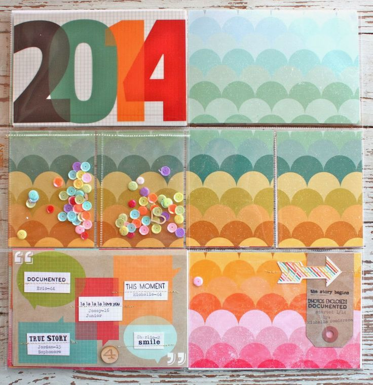 Mish Mash: Project Life 2014....Cover Page & Week 1