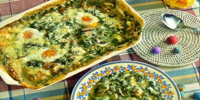 Guiso de Acelgas con Huevo, una Receta casera, saludable y muy sabrosa. Estos son los ingredientes y el Modo de preparación paso a paso.