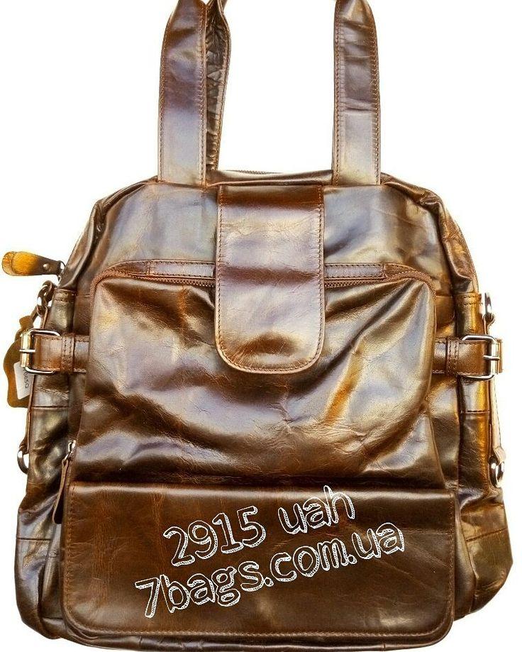 Кожаная сумка-рюкзак трансформер JD7065Q за 2915 грн в 7bags.com.ua.  Натуральная телячья шлифованая кожа высшего сорта. Возможность трансформировать в рюкзак или мессенджер.  #семьсумок #мужскиесумки #кожаный #рюкзак