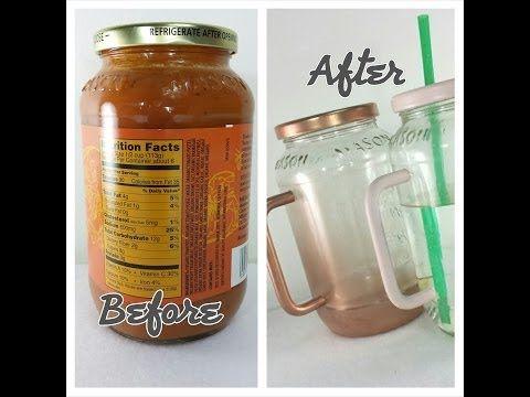 How to turn a sauce jar into a Mason Mug DIY reduce reuse recycle Mason jar - YouTube