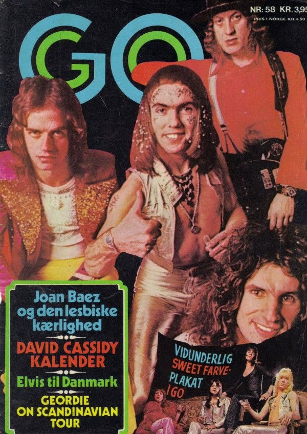 Slade on the cover mag GO - 1972