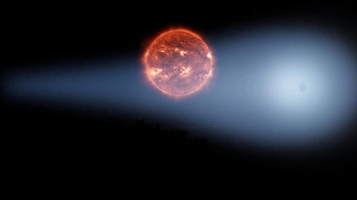 GJ 436b (Gliese 436b) an exoplanet with comet-like tail