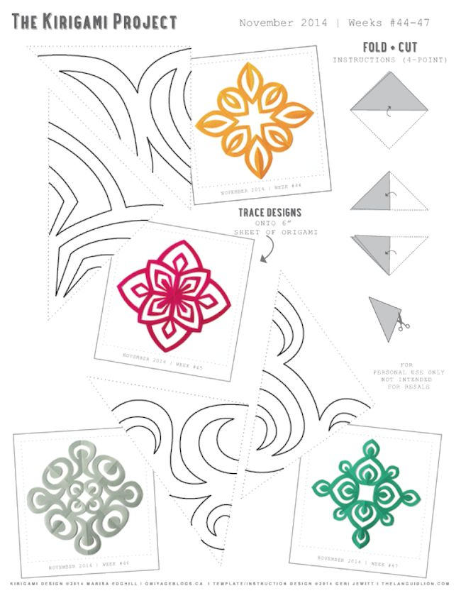 Omiyage Blogs: The Kirigami Project - November Free Printable