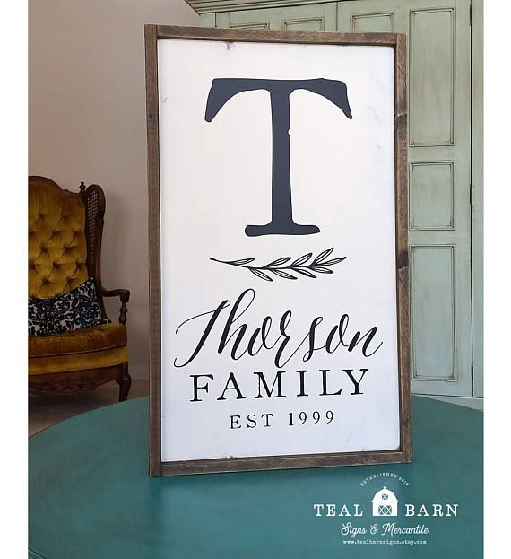 Family Initial Sign Established Date Forever Family Name