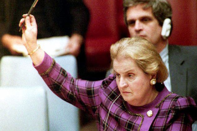 """Madeleine Albright Says: Learn to Interrupt, But Only If You Know What You're Talking About..... """"I've said this many times — there's plenty of room in the world for mediocre men, but there is no room for mediocre women."""" —Former Secretary of State Madeleine K. Albright"""