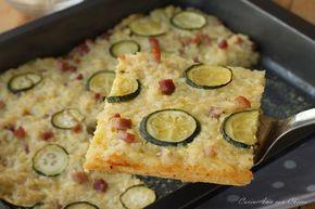 Frittata di riso con zucchine e pancetta