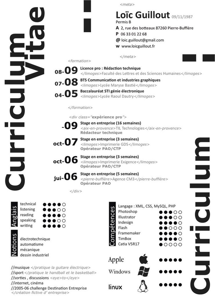 1000+ images about  Cv  on Pinterest Creative resume, Cv - chief designer resume