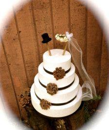 Taarttoppers opDecoratie - Etsy Bruiloften