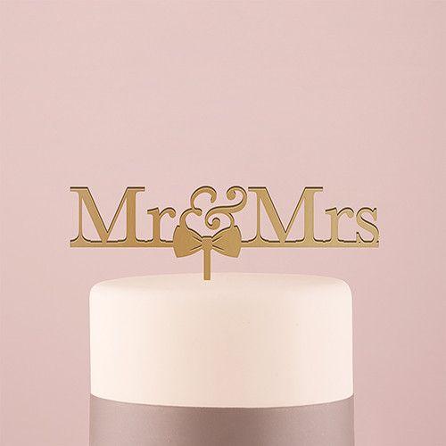 Mr. & Mrs. Bow Tie Cake Top