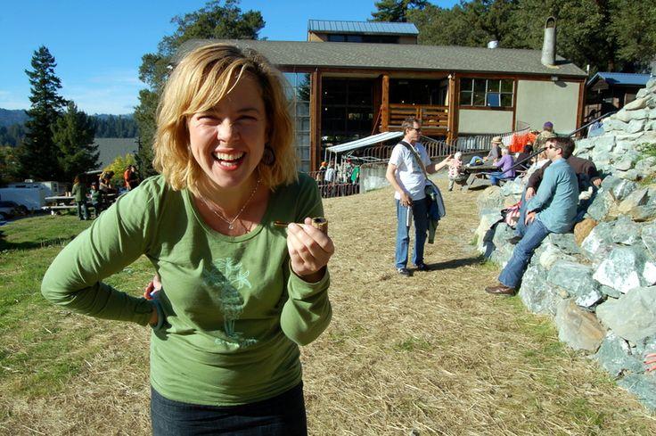"""Grow Girl"" Author Heather Donahue at the Humboldt Hemp Fest 2012."