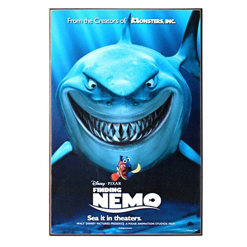 Finding Nemo Bruce Movie Poster Wood Wall Art - Silver Buffalo - Finding Nemo / Finding Dory - Artwork at Entertainment Earth