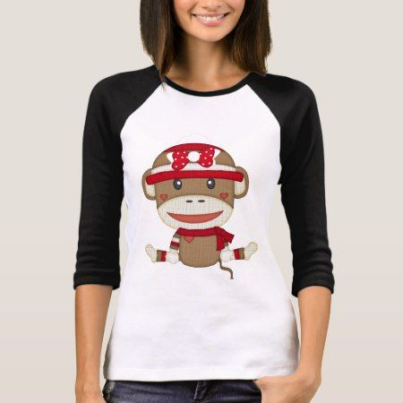 Retro Sock Monkey T-Shirt - click/tap to personalize and buy