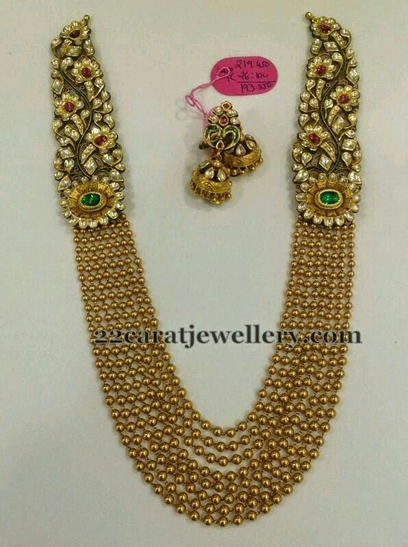 Jadau multiline necklace