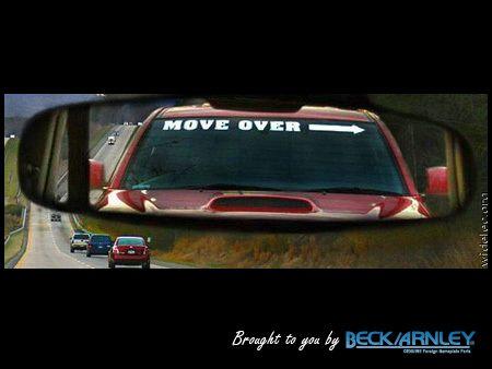 CAR HUMOR: A perfect bumper sticker...