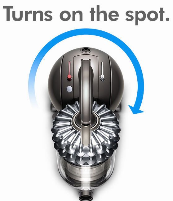 The #Dyson DC54 Ball technology reinforces the concept of easy movement, allowing vacuum machines to steer fluidly on a ball instead of the conventional wheels.