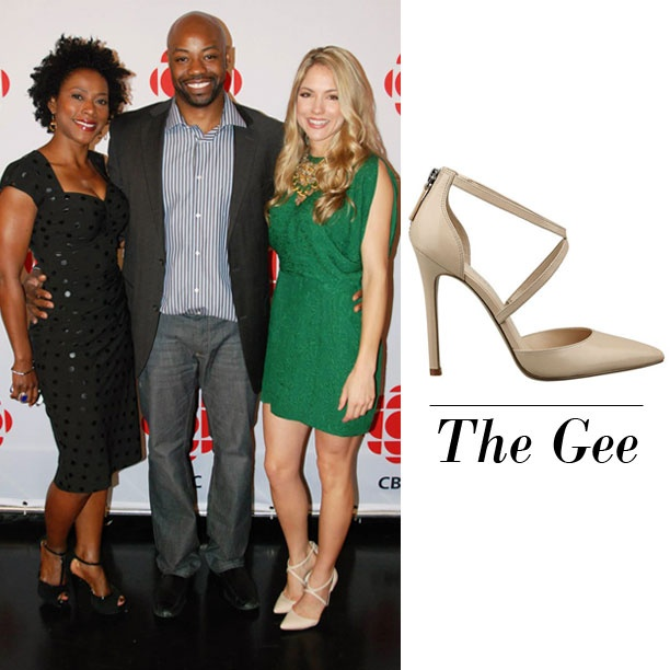 Brooke Nevin wearing the #NineWest Gee pump!