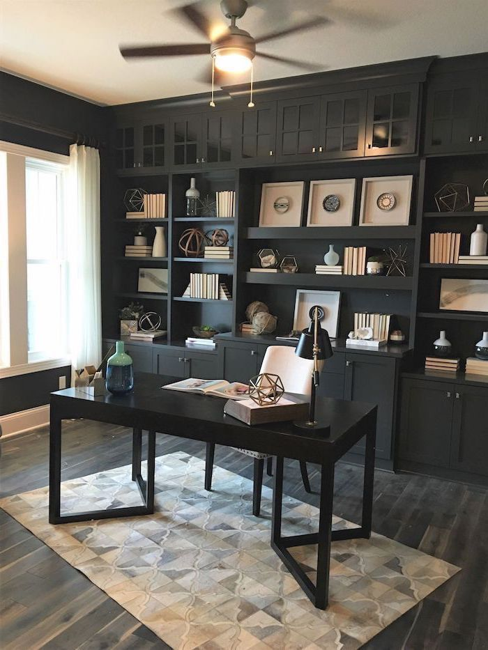 Black And White Workspace Home Office Details Ideas For Homeoffice Interior Design Decoration Organ Home Office Design Office Inspiration Work Space