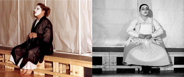 IL MONACO -                                                 bn: Scene, costumi e luci di Renato Morselli. col: Costumi di Sakura Fujita, scene e nuove luci di Renato Morselli