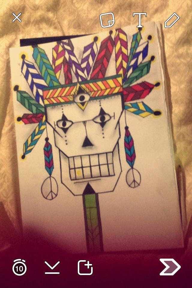 Tribal skull by myself