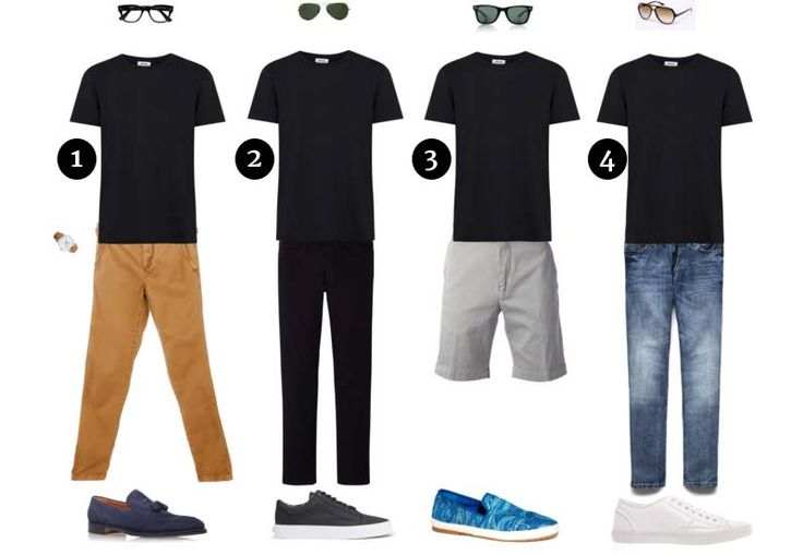 No wardrobe is complete without a classic basic black tee. We've put together four different looks to get you inspired and look great in our classic black tee.