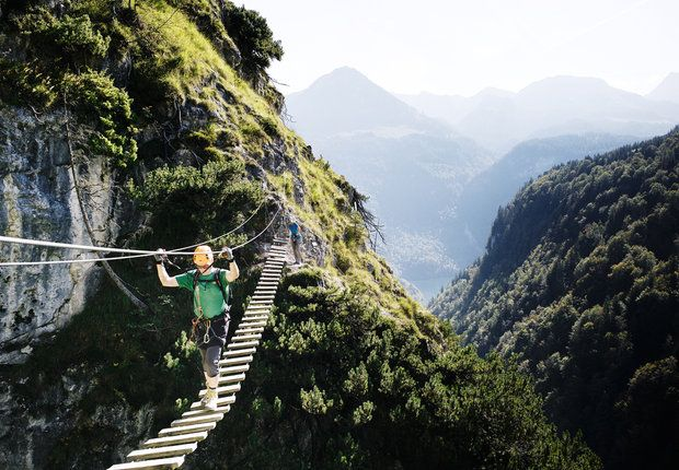 Klettersteig Grünstein, Berchtesgaden, mehrere Varianten
