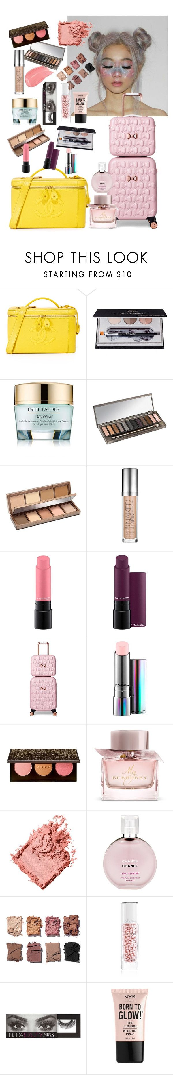 """""""my makeup bag"""" by ababneh-rose ❤ liked on Polyvore featuring beauty, Anastasia Beverly Hills, Estée Lauder, Urban Decay, MAC Cosmetics, Ted Baker, Burberry, Bobbi Brown Cosmetics, Chanel and Illamasqua"""