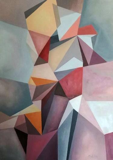 "Saatchi Art Artist Malvina - Carola Liuba; Painting, ""Scarred Structure 2"" #art"