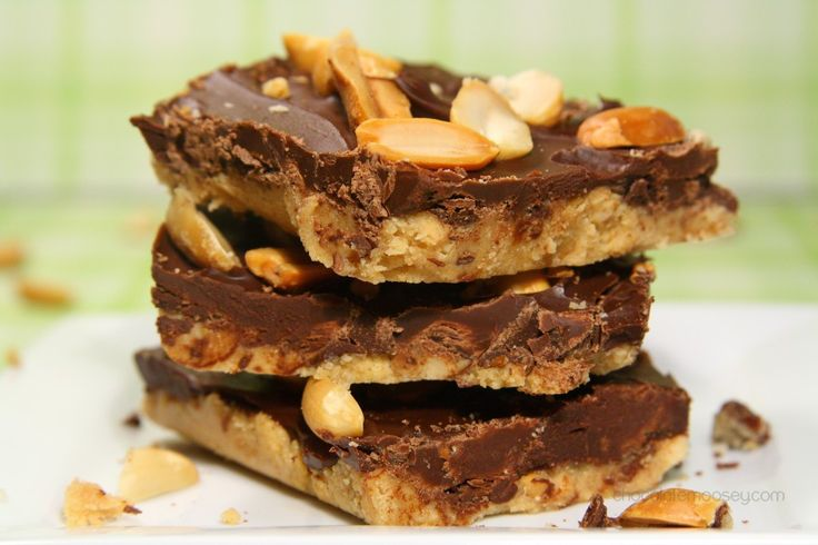 Chocolate Peanut Butter Squares from www.chocolatemoosey.com
