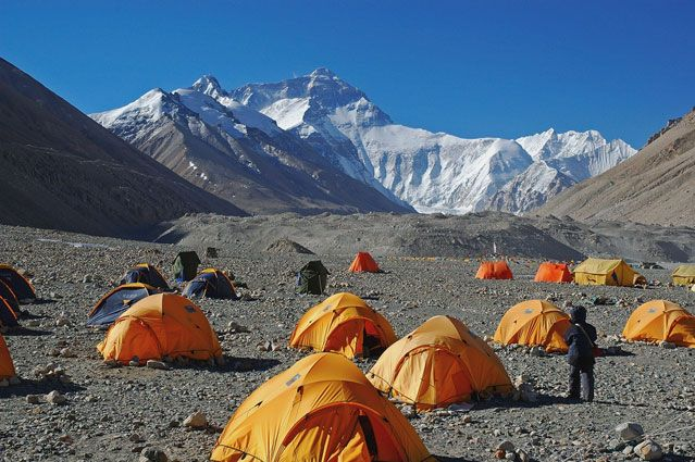 Base camp on Everest's north side.: Adventure Advi, Everest Based Camps, Buckets Lists, Trips Advi, Travel Advi, Mountain Tent, Adventure Travel, Altitude Sick, Outdoor Adventure