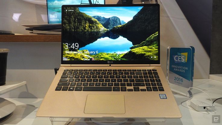 LG takes a cue from Apple's gold MacBook with the Gram 15 | It's only been a few months since LG brought its lightweight Gram laptops to the US, but the company's already looking toward the future with a new 15.6-inch model. Up until today, LG had only offered 13- and 14-inch versions, which are sold Stateside through Amazon and Microsoft Stores. #CES2016