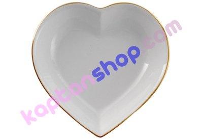 Tamamen seramikten yapılmış bir kalp salata tabağıdır. Hediyelik eşya, doğum günü hediyesi olarak kullanılabilir.
