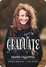 Whimsical Type Graduation Announcement
