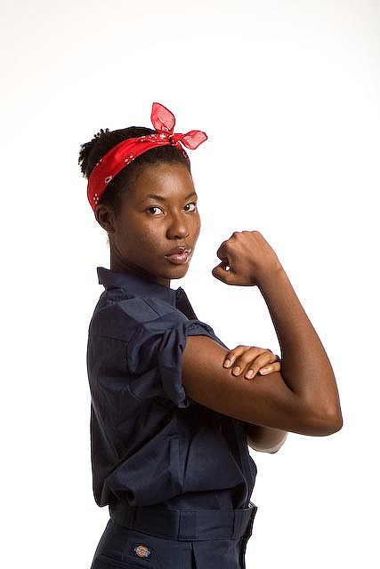 Rosie Riveter    Re-imagined and updated We Can Do It poster.
