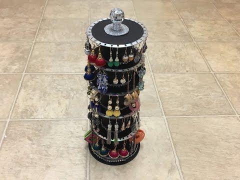 DIY Jewelry organizer - Earring holder - YouTube
