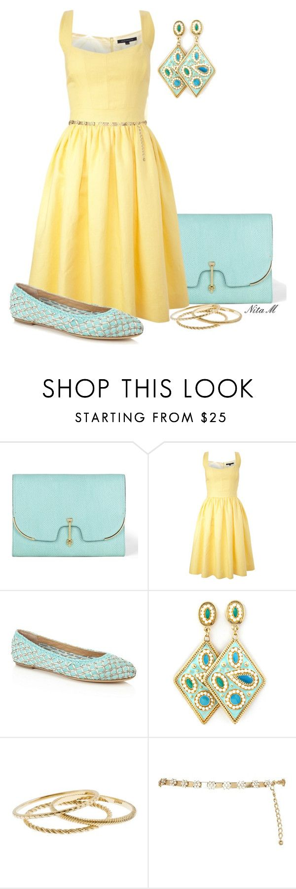 """""""Light Aqua Shoes"""" by mz-happy ❤ liked on Polyvore featuring VC Signature, French Connection, Salvatore Ferragamo, Domina, J.Crew and River Island"""